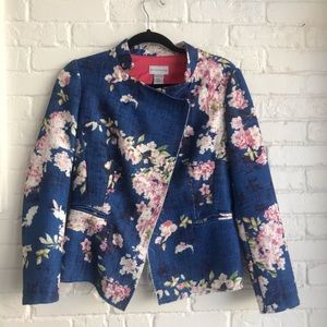 Soft Surroundings Cherry Blossom Floral Jacket 8